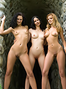 The three hot chicks are naked and hoping you'll come see them.