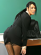 Teacher does striptease